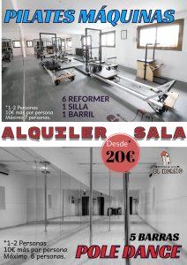 Alquiler Sala Pilates Máquinas y Pole Dance